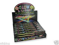 """40 Pcs Light Up Glow Sticks and Connectors Neon Assorted Colors 8"""" Bracelet"""