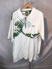 Men's Pepe Jeans London short sleeve polo shirt 2XL Green & White (AT)