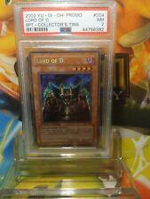 2002 Yu-Gi-Oh! BPT-004 Promo LORD OF D PSA 7 Near MINT Límited Edition