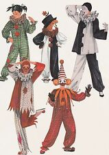 Child Boys Girls | Assorted CLOWN COSTUME Collection | Sz 6 UNCUT Sewing Pattern