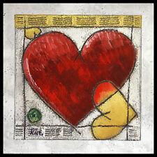 Ria Heart I póster imagen son impresiones artísticas con marco de aluminio en negro 60x60cm