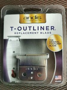 ANDIS T-Outliner Replacement Blade | GTX | Deep Tooth | #04521| Zero Gapped