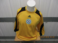 VINTAGE ADIDAS CHELSEA F.C. SEWN LARGE YELLOW GOALIE JERSEY 2008 KIT EPL PREOWNE