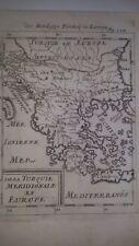 1686 Grecia 1  -Mappa antica originale - autore Manaisson Mallet