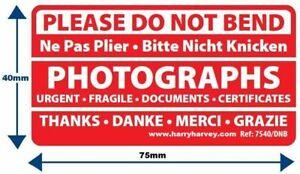 1000 Large Do Not Bend Stickers Labels Certificates Envelopes Address Parcel