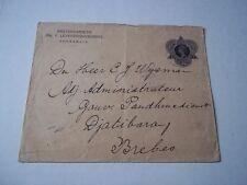 Netherland Indies cover/postal envelope. Queen Wilhelmina. 4/6/12.
