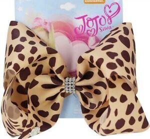 "Jojo Siwa 8"" Bow Cheetah Print with Rhinestones"