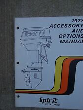 1978 Spirit Outboard Motor Accessory and Options Manual Boat MORE IN OUR STORE U