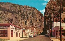 1950's Chrome PC Creede CO Street Scene Mineral County Trading Post unposted