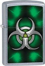 Zippo 2015 Catalog Metallic Style Biohazard Green Street Chrome Lighter 28853