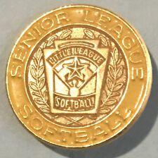 VTG Senior Little League District Softball Lapel Pin Tac Official Baseball GOLD
