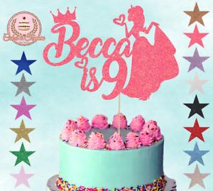 Princess Glitter Cake Topper Cake Decoration Any Name Any Age