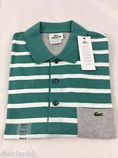 Lacoste Men's Polo Shirt Brand New with Tags Green White Silver Size EU 8 US 2XL