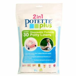 Potette Plus Baby / Toddler Disposable Liners For 2 In 1 Travel Potty - 30 Pack