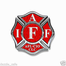 "IAFF Stickers 2"" Decals (4 pack) Firefighter Int'l Maltese Cross Red White 2"""