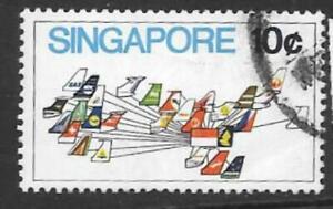 SINGAPORE SG197 1973  10c AVIATION USED