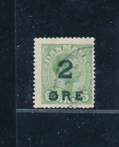 D148368 Faroe Islands FU (tiny thin spot) 1919 King Christian X Sc. 1