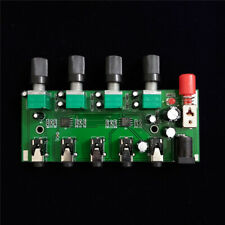 Stereo four-channel audio input mixed into one stereo output board