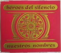 """HÉROES DEL SILENCIO - 2 TRACKS PROMO SINGLE CD """"NUESTROS NOMBRES"""""""