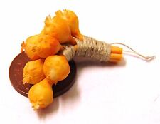 1:12 Scale String Of Brown Onions Tumdee Dolls House Kitchen Vegetable Accessory
