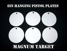 8in. NRA Pistol Shooting Targets - 3/8 Thk Steel Targets - 6pc. Metal Target Set