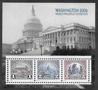 US #4075 2006 Washington 2006 Souvenir Sheet. Mint F/VF NH. FREE SHIPPING