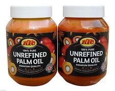 2 x KTC non raffinato olio di palma 500 ML COMMESTIBILE principalmente utilizzati per la cucina asiatica africana