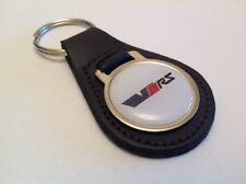 SKODA VRS Quality Black Real Leather Keyring OCTAVIA