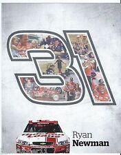 "2014 RYAN NEWMAN ""QUICKEN LOANS"" #31 RCR NASCAR SPRINT CUP POSTCARD"