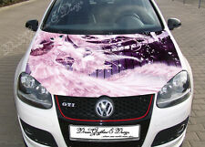 Anime Full Color Graphics Adhesive Vinyl Sticker Fit any Car Hood Bonnet #062