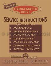 Olds Hydra Matic Transmission Shop Manual 1946 1947 1948 Oldsmobile Repair Book
