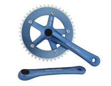 BICYCLE BLUE CRANK SET 44T X 170MM CRUISER LOWRIDER BMX MTB ROAD FIXIE CYCLING