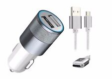 Samsung Note 8 S8 S8 Plus Edge Fast Charge In Car Charger + Braided Type-C Cable