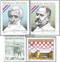 Kroatien 191,192,197,200 (kompl.Ausg.) postfrisch 1992 Sondermarken