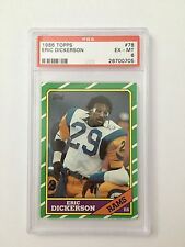 1986 Topps Football Eric Dickerson #78 PSA Graded 6 EX-MT