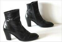 MINELLI Bottines Boots Cuir Noir Doublées Cuir T 38 TBE