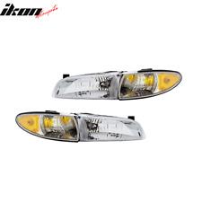 Fits 97-03 Pontiac Grand Prix RH LH Headlights