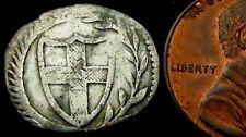 V613: 1649-60 Oliver Cromwell Commonwealth Hammered Silver Halfgroat, Spink 3221