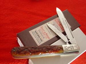 "Schatt & Morgan USA 3-3/4"" 2 blade 042297 jack knife MINT ld"