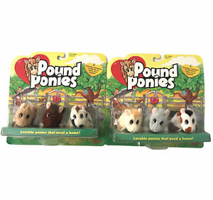 2 3 Packs Vintage Pound Ponies Galoob 1997 New in Packaging