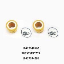 2PCS Engine Oil Filter Kit For BMW 328i 320i 428i 528i 228 X1 X4 Z4 11427640862