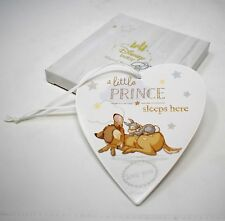 Disney Bambi Little Prince Sleeps Here Hanging Wall Plaque Thumper Newborn Gift