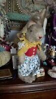 Rare Old Antique German Mohair dressed Rabbit Kersa.