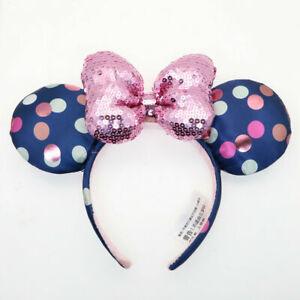 2021 Sequins Minnie Ears Rock Polka Dot Disney Parks Bow Disneyland Headband