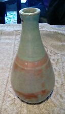 STUDIO POTTERY EARTHENWARE LAMP BASE GREEN AND RED