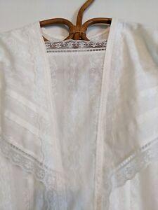 Vintage Jessica McClintock White Victorian Lace Prairie Gunne Sax Dress