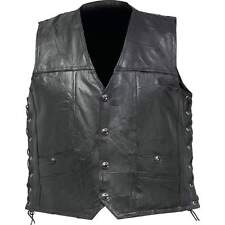 Diamond Plate™ Genuine Buffalo Leather Concealed Carry Biker Vest Size L