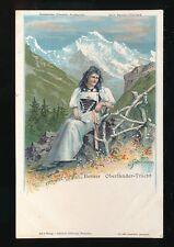 Switzerland BERNER Oberlander-Tracht costume fashion chromo-litho c1902 u/b PPC