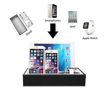 Sleek Sexy Leather Stand Holder Charge Dock Station For Apple iWatch iPhone iPad