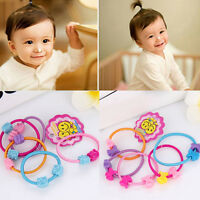 100pc Kids Girls Elastic Hair Ties Band Rope Ponytail Holder Head Band-Hairbands